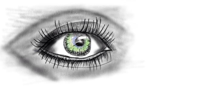 fertige Studie - das Auge